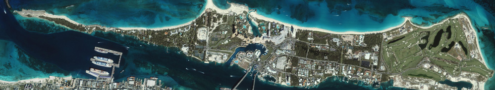 Arial view of Paradise Island Bahamas