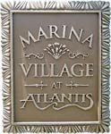 Sign at entrance to Marina Village
